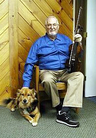 Owner Emeritus Bill Brown and his faithful friend Isaac